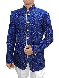 INMONARCH Mens Beige Polyester Viscose 2 Pc Jodhpuri Suit Safari JO465