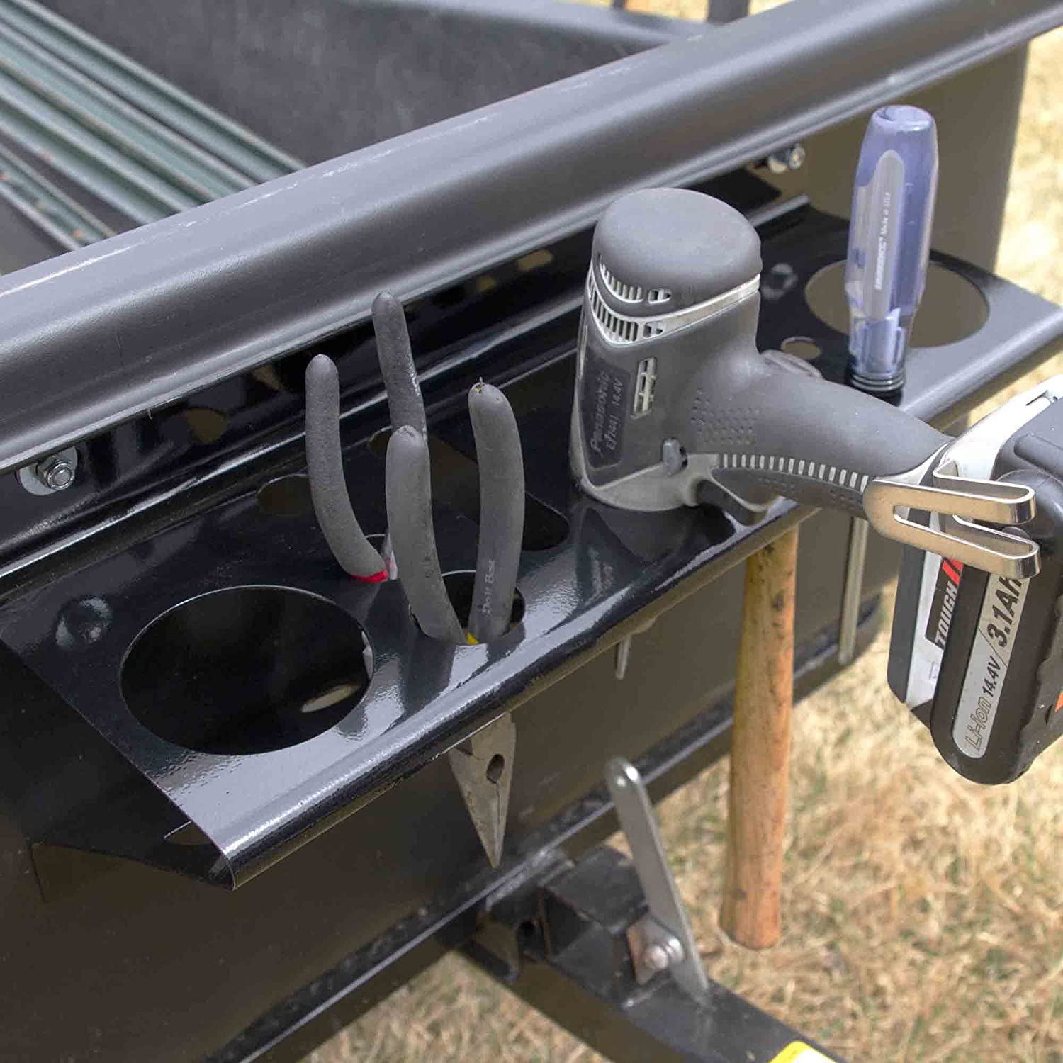 Polar Trailer Tow Behind Cart Tool Organizer and Carts Easy to Install Durable Build Useful Accessory Black 10518