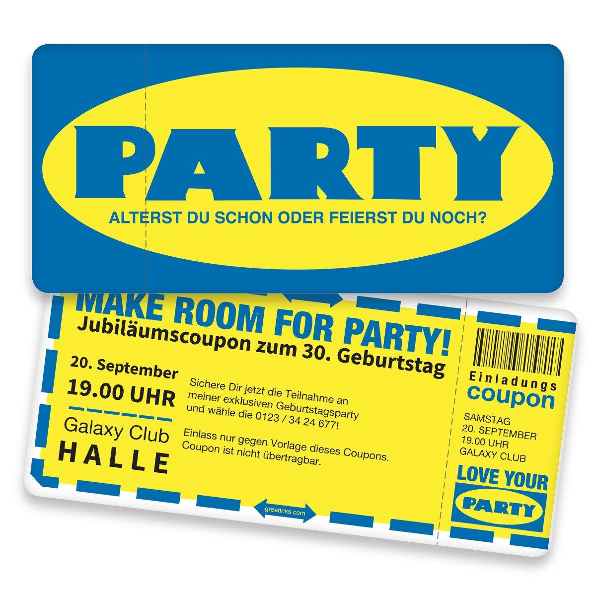 Einladungskarten zum Geburtstag - Schwedische Party   40 Stück   Inkl. Druck Ihrer persönlichen Texte   Individuelle Einladungen   Karte Einladung B01MXTOLK7 | Online-verkauf  | Billiger als der Preis  | Große Ausverkauf