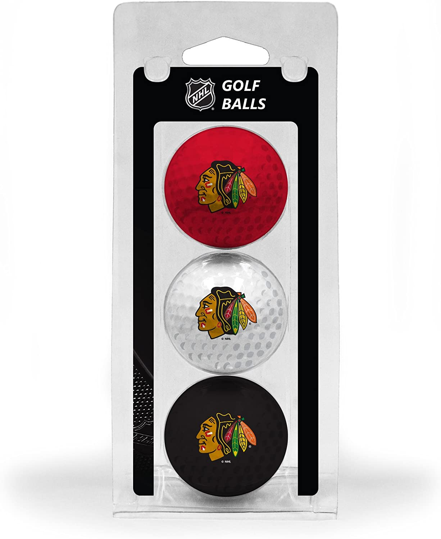 Team Golf NHL Chicago Blackhawks Regulation Size Golf Balls, 3 Pack, Full Color Durable Team Imprint : Golf Balls : Sports & Outdoors