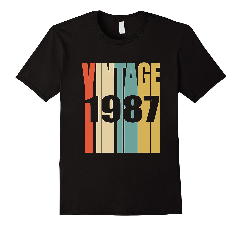 Retro Vintage 1987 T-Shirt 30 yrs old Bday 30th Birthday Tee-FL