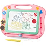 LOFEE Magna Drawing Doodle Board Present for 1 2 3 4 Year Old Girl,Magnetic Drawing Board Gift for 2 3 4 Year Old Girl…