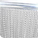 rideau de porte en chainette aluminium dimension 90x215: Amazon.fr ...