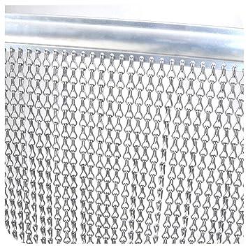 Fy Light Rideau En Aluminium Rideau Anti Mouche 90 X 200 Cm Rideau Anti Mouche Aluminium Rideau De Porte Double Crochet Pour L Intérieur Et à