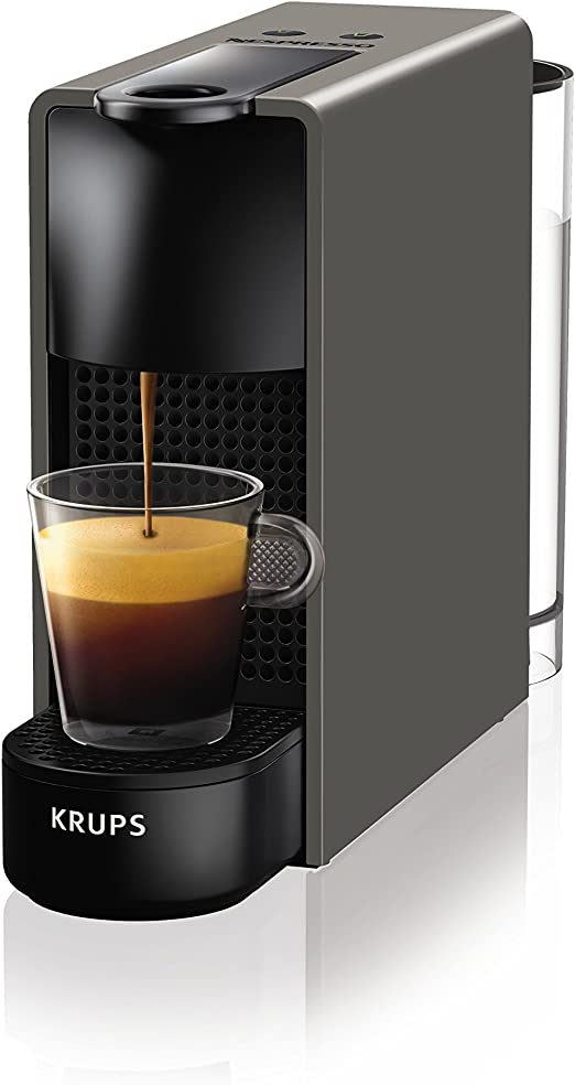 Krups Essenza Mini - Nespresso (1200 W), color negro Essenza, Mini, con Aeroccino gris: Amazon.es: Hogar