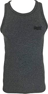 Superdry Orange Label Vintage Embroidery Vest in Classic Black Grit/Charcoal (Small)