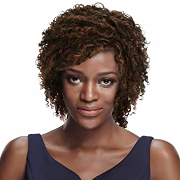 8\' Mixed Color Curly Wigs for Black Women