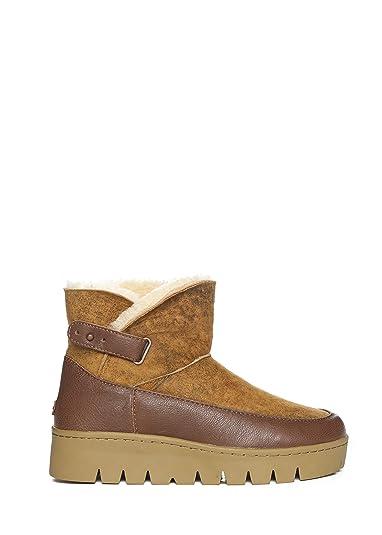 230ba4b97159 Australia Luxe Collective Bottes Courtes fourrées en Cuir Femme: Amazon.fr:  Chaussures et Sacs
