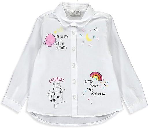 LC WAIKIKI - Camisa de popelina para niña: Amazon.es: Ropa y accesorios