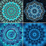 4 Packs 5D DIY Diamond Painting Paint by Numbers Kits for Adult, Madala Full Drill Diamond Embroidery Paintings Pictures Arts Craft for Home Decoration by INFELING