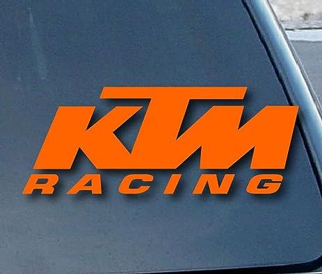 Socool ktm racing vinyl 5 wide color orange decal laptop