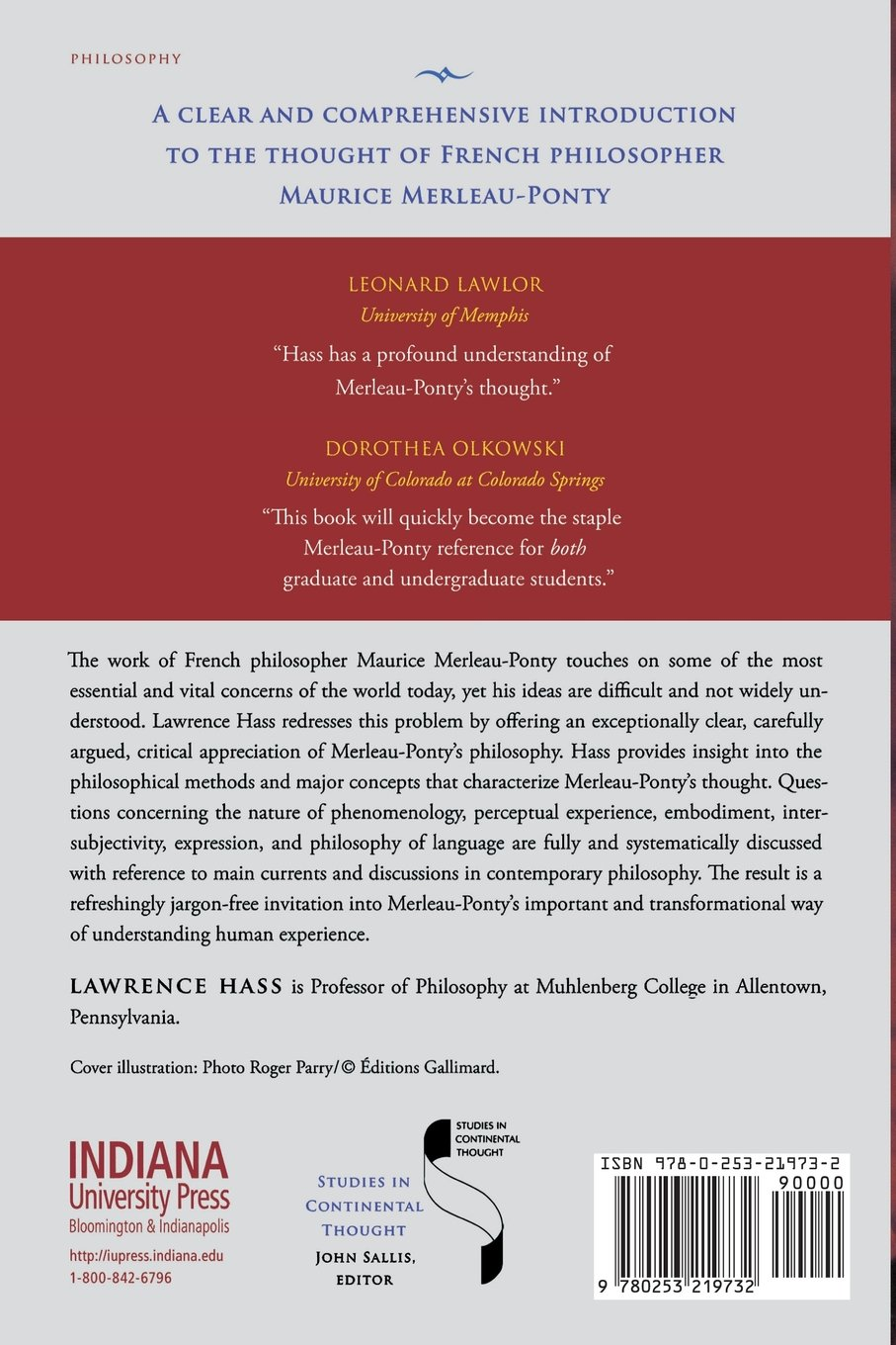 Merleau-Ponty's Philosophy (Studies in Continental Thought): Lawrence Hass:  9780253219732: Amazon.com: Books