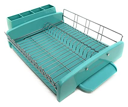 KitchenAid 3PC Dish Drying Rack Large Capacity Aqua Sky
