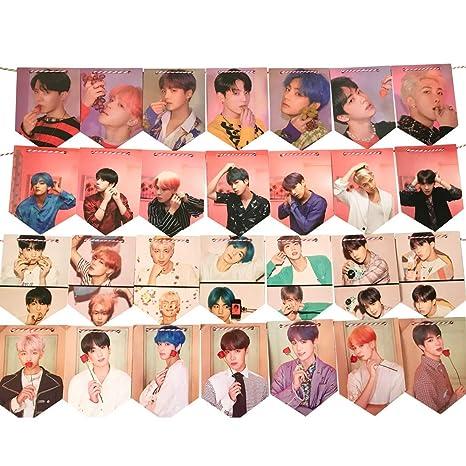 Amazon.com: BTS Banner BTS - Juego de banderas para colgar ...