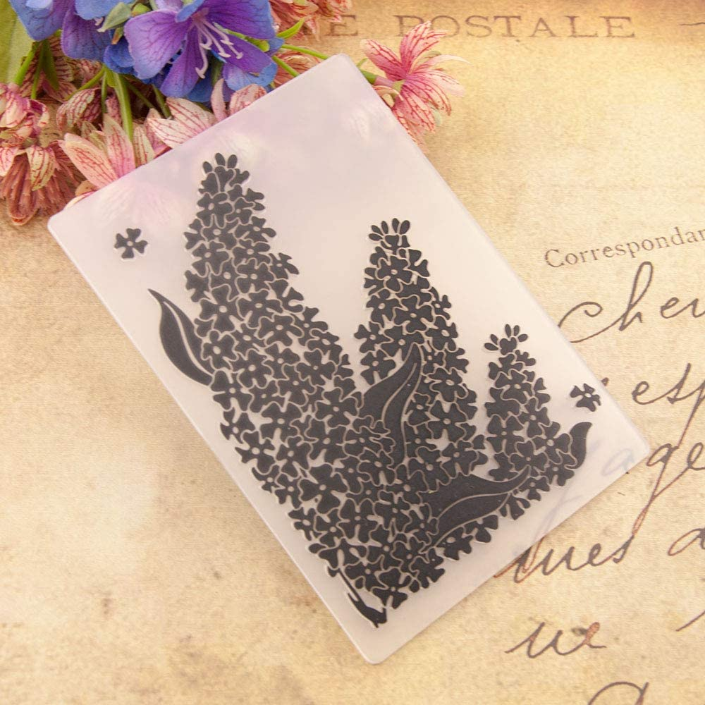 Welcome to Joyful Home 1PC Sea Grass Background Embossing Folder for Card Making Floral DIY Plastic Scrapbooking Photo Album Card Paper DIY Craft Decoration Template Mold 11x16cm
