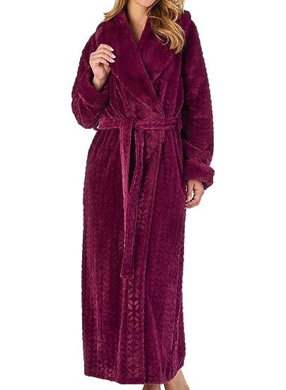 Slenderella Ladies Faux Fur Dressing Gown Super Soft Shawl Collar Bath Robe  Wrap (Small - XXXL)  Amazon.co.uk  Clothing 40483d47b
