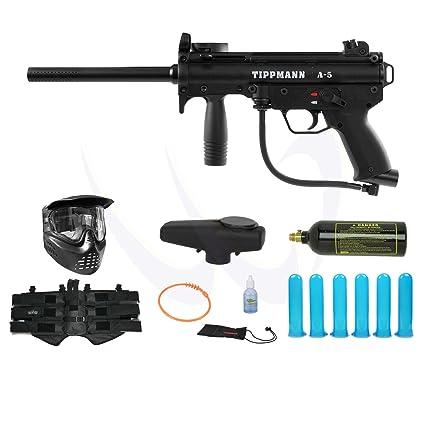 Tippmann A5 A 5 Paintball Marker Gun Advance Combo Package Set