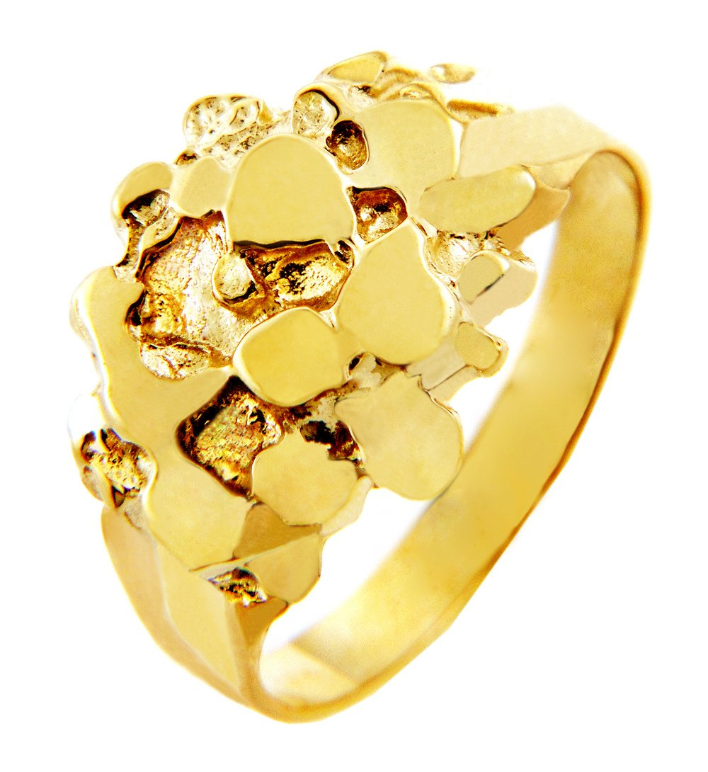 Men's 10k Gold Nugget Rings ''The Stoic'' (7.5)