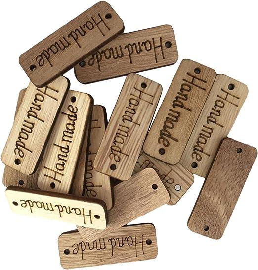 Botones madera 2 Agujeros Coser Botones Scrapbooking tarjeta artesanías hechas a mano