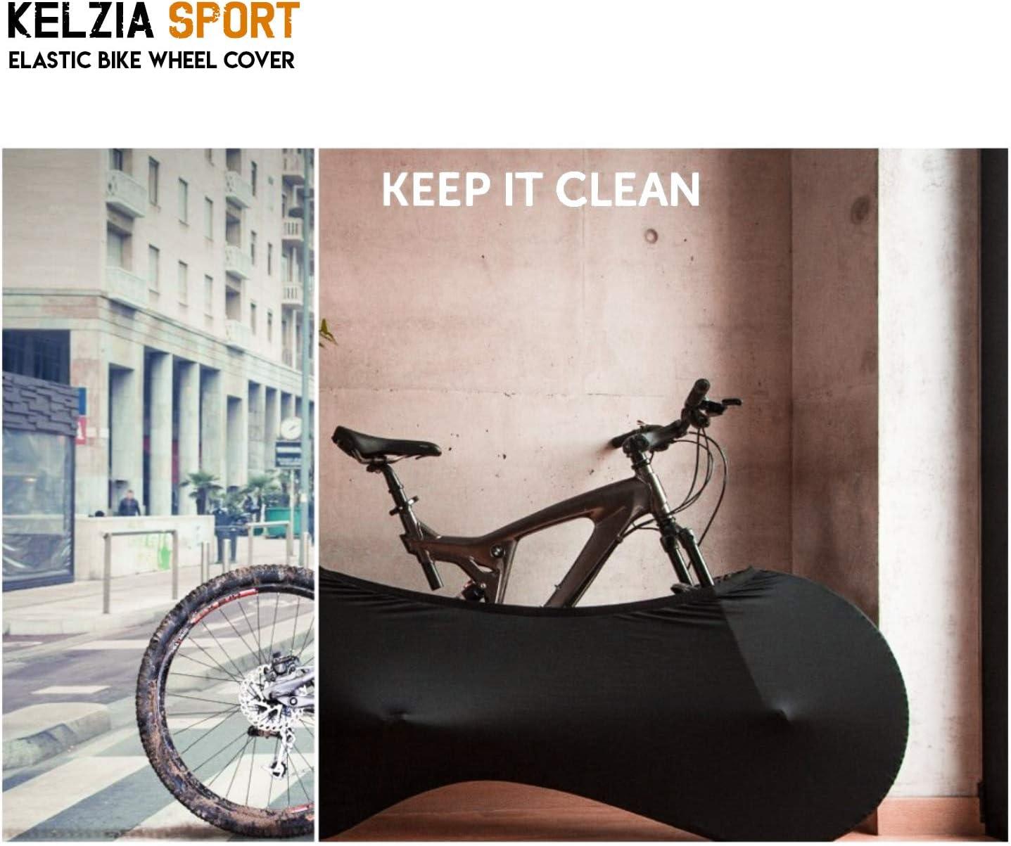 Kelsport Funda El/ástica Universal de Bicicletas para Almacenamiento en Interiores