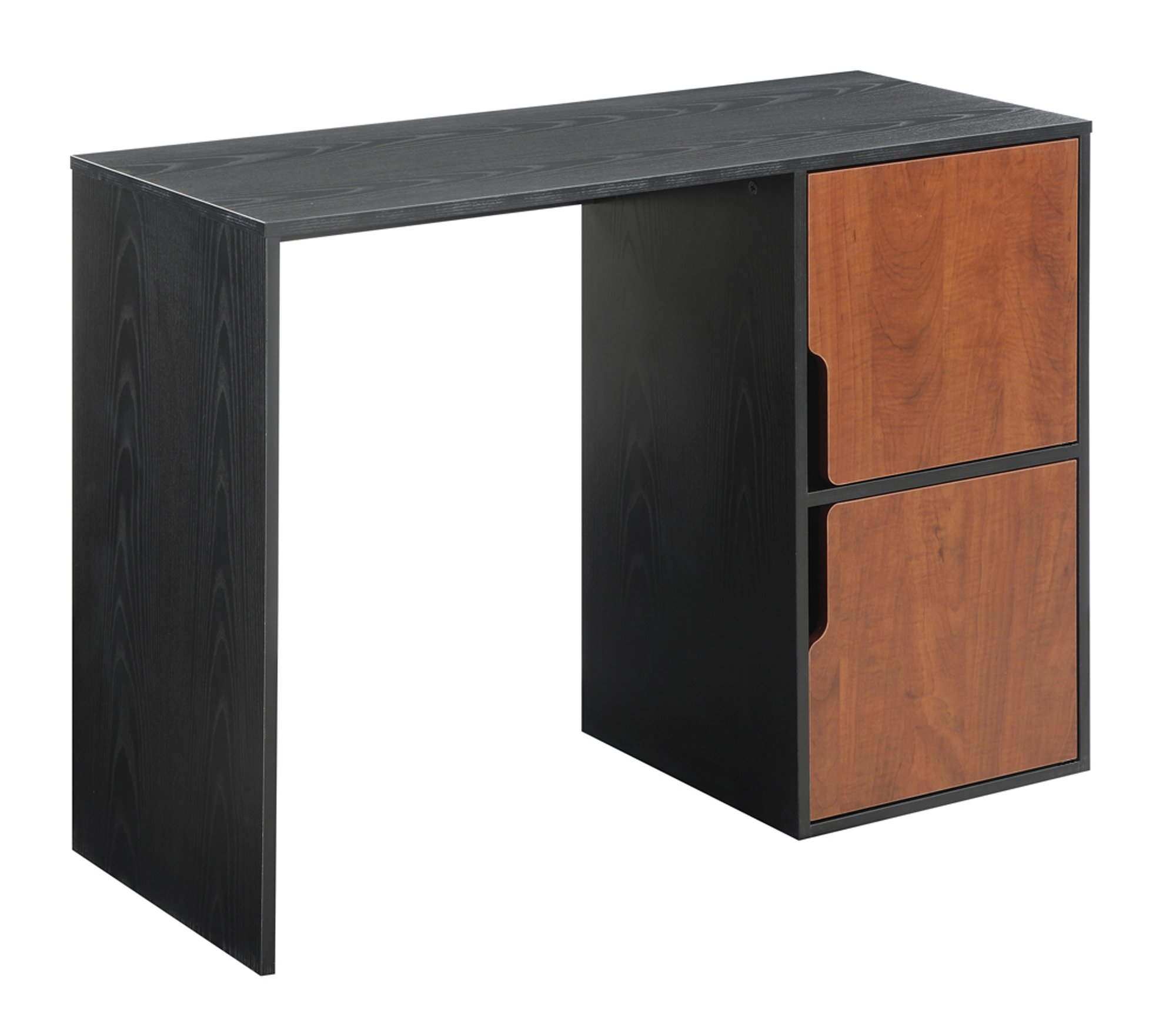 Convenience Concepts Student Desk with Storage Cabinets, Black