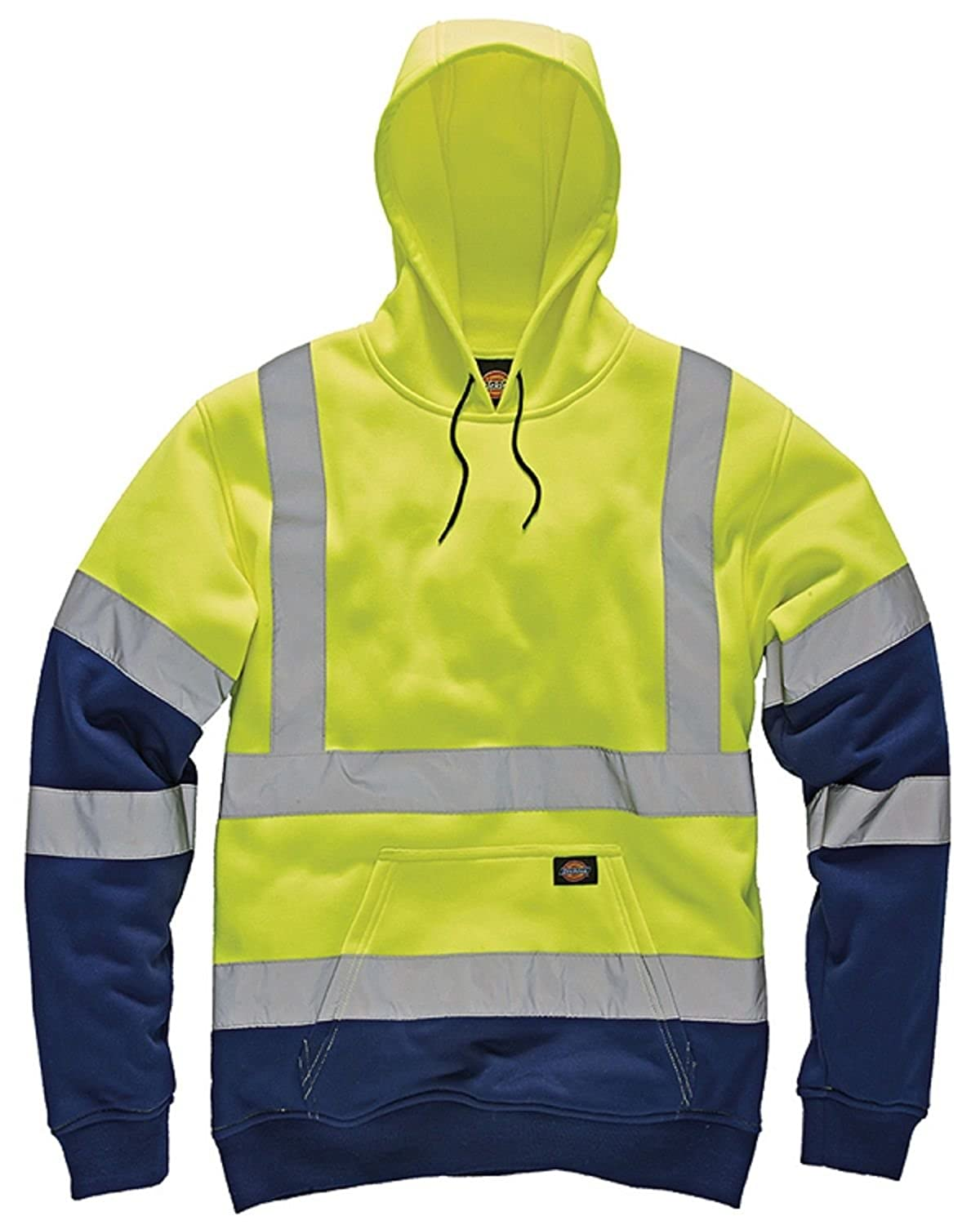 Amazon.com: Dickies Mens High Visibility Viz Two Tone Hoodie Hooded Sweatshirt Safety Work: Clothing