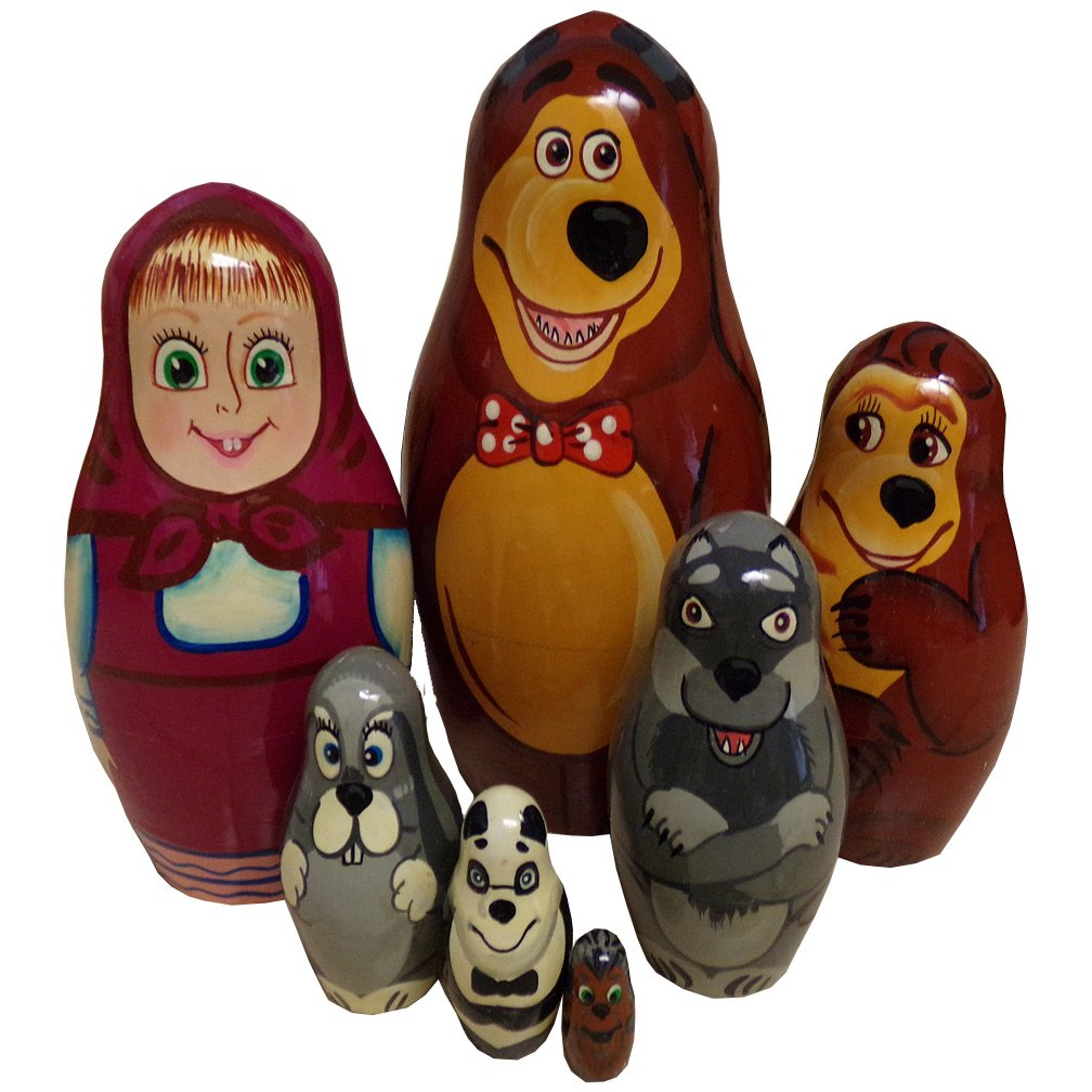 BEL Animal Friends Russian Nesting Doll by BEL