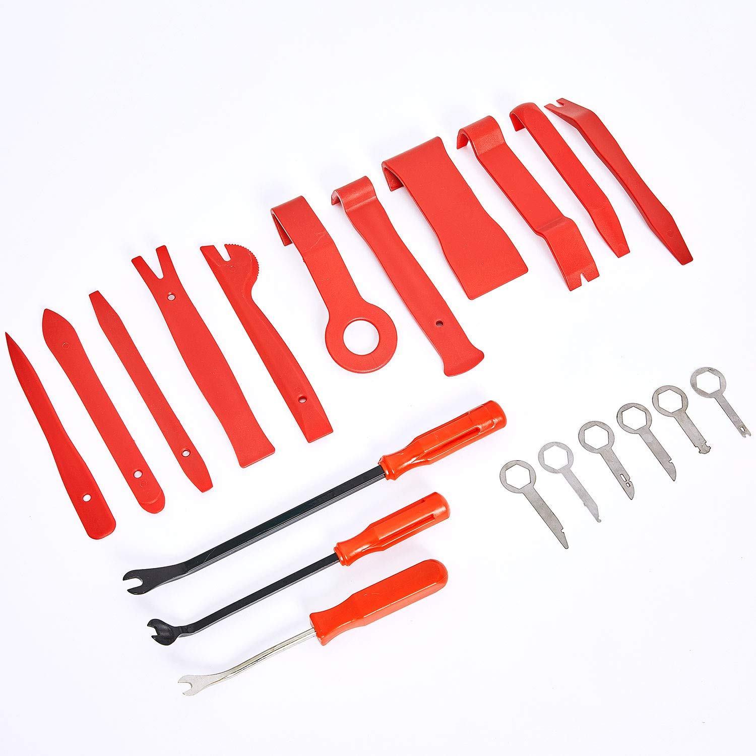 Rabbica Car Trim Removal Tool 20pcs Auto Door Panel Removal Tool for Dash Center Console Installation and Remover with Terminal Removal Tools (20 pcs Trim Tools)