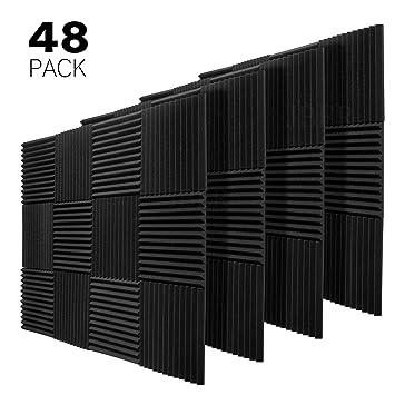 Amazon.com: JBER 48 unidades de paneles acústicos de carbón ...
