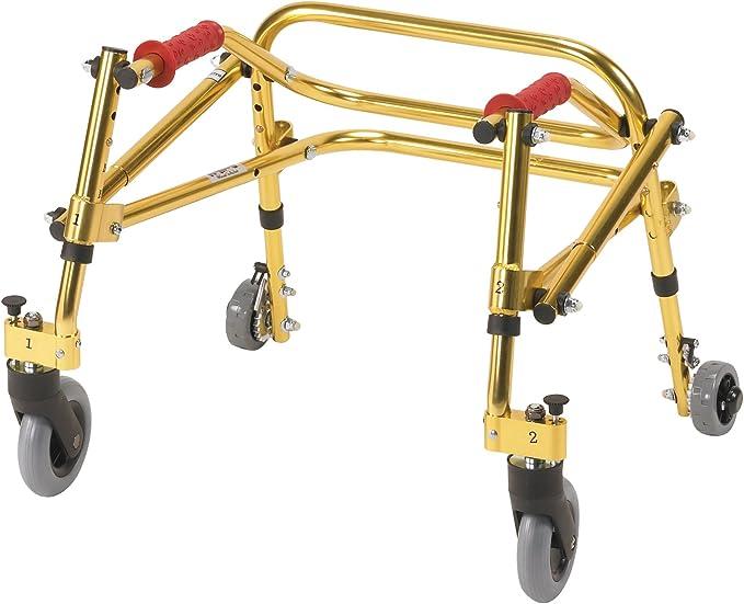 Wenzelite Nimbo Rehab Lightweight Posterior Posture Walker, Goldenrod Yellow, Tyke