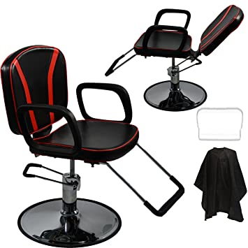 Awe Inspiring Lcl Beauty Black Red Reclining Hydraulic All Purpose Cutting Shampoo Barber Salon Chair Theyellowbook Wood Chair Design Ideas Theyellowbookinfo