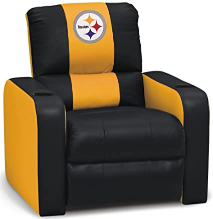 DreamSeat Pittsburgh Steelers NFL Leather Recliner