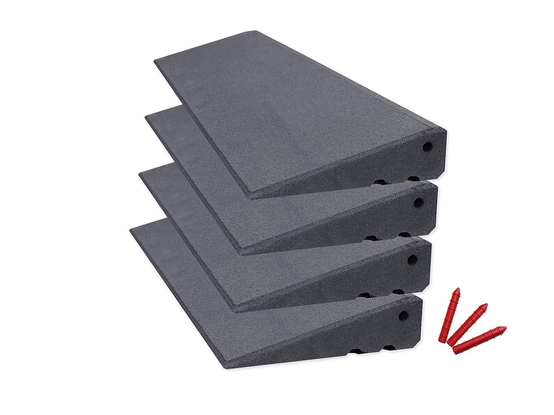 RO-FLEX Bordsteinrampen Set Excellent 4000-75 mm schwarz