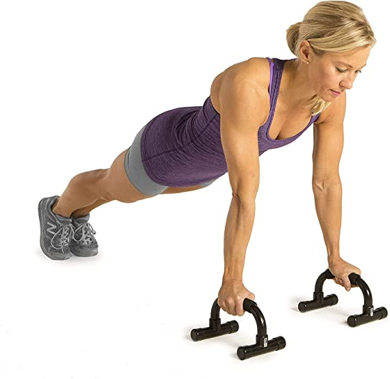 Push-up Bars for Increased Muscle Development Home Gym Fitness