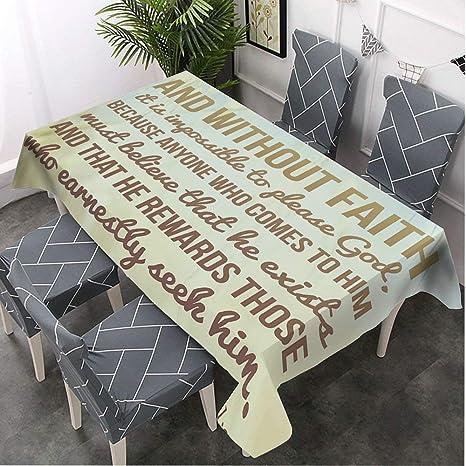 Bible Verse Bible Gifts Bible Decor Tablecloth Rectangle Kitchen D\u00e9cor Tablecloth Square Kitchen Table Cloth Table D\u00e9cor Housewarming Gift