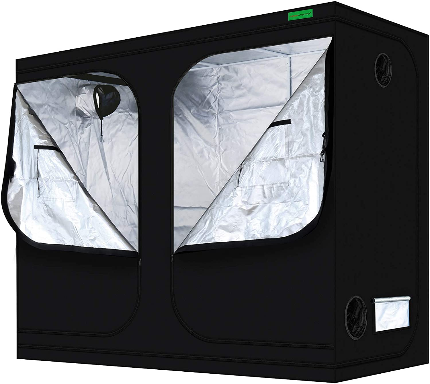 "VIPARSPECTRA 96""x48""x80""Mylar Hydroponic Grow Tent with Observation Window and Floor Tray for Indoor Plant Growing 8'x4'"