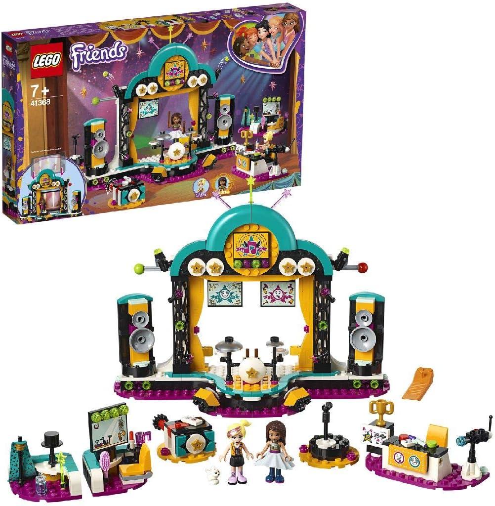 LEGO Friends - Espectáculo de Talentos de Andrea, set creativo e imaginativo con escenario de conciertos e instrumentos de juguete (41368) , color/modelo surtido