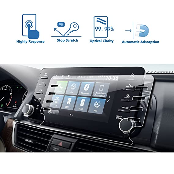 LFOTPP [Newest] 2018 Honda Accord EX EX-L Touring EX-L 8-Inch Car  Navigation Screen Protector, Clear Tempered Glass Infotainment Display  in-Dash