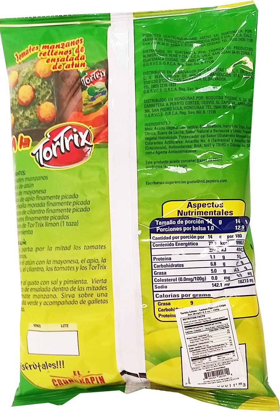 Amazon.com : Tortrix Lemon 6.35 oz - Limon Paquete Familiar (Pack of 8) : Grocery & Gourmet Food