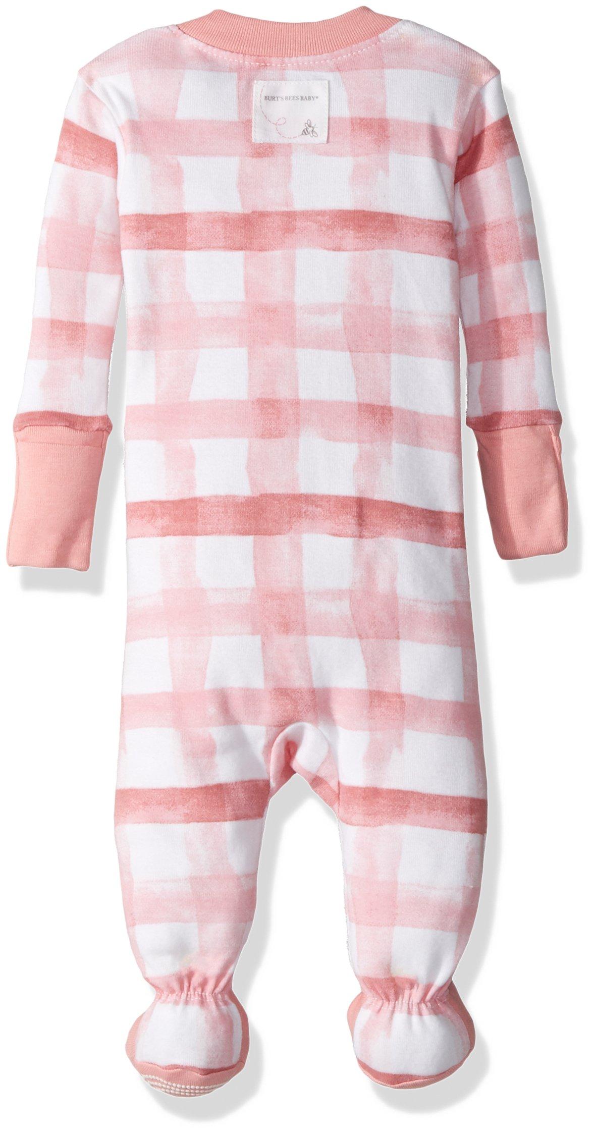 f4e5350644 Burt s Bees Baby Baby Girls  Organic Print Zip Front Non-Slip Footed  Sleeper Pajamas