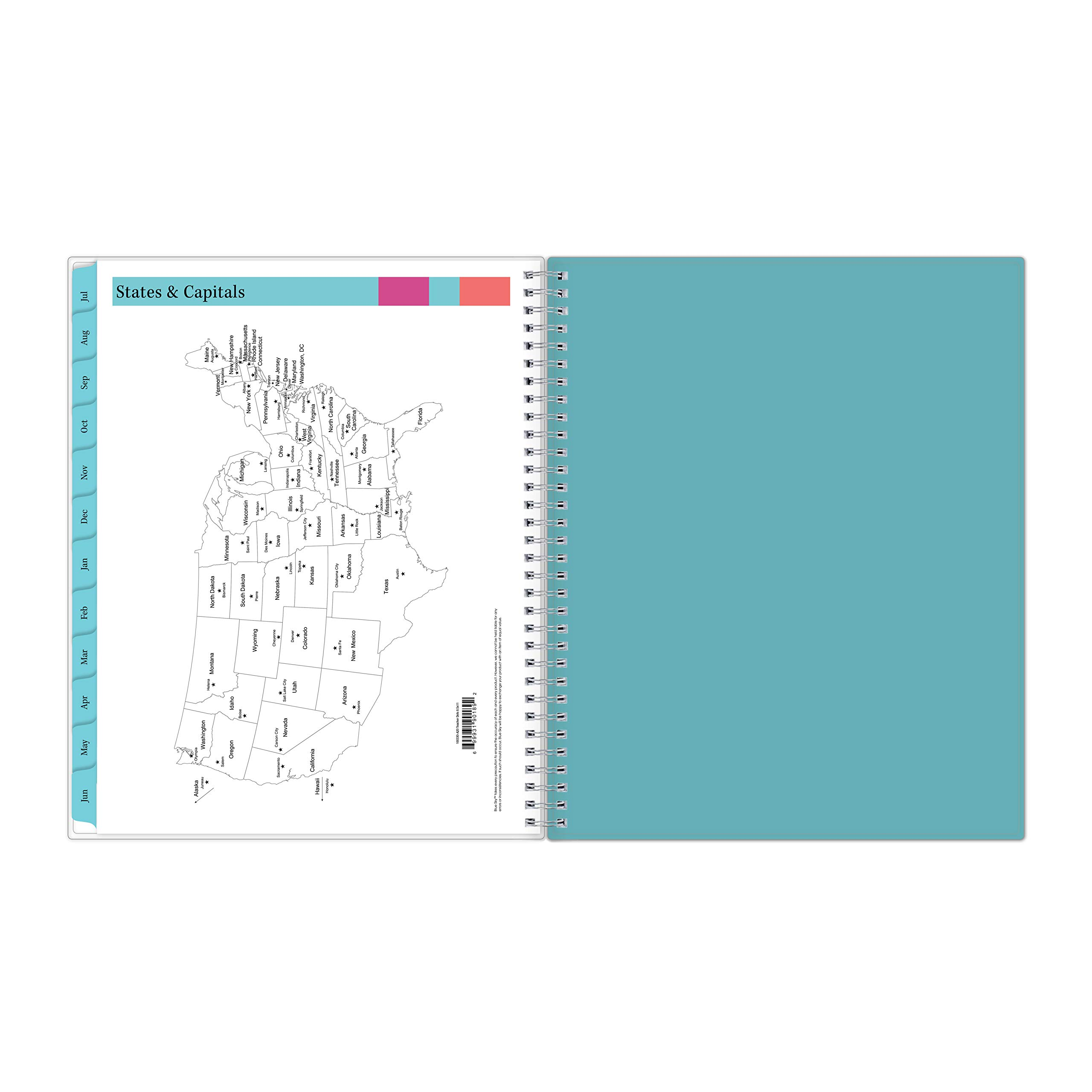 Blue Sky 2019-2020 Academic Year Teachers Weekly & Monthly Lesson Planner, Flexible Cover, Twin-Wire Binding, 8.5'' x 11'', Dots by Blue Sky (Image #9)
