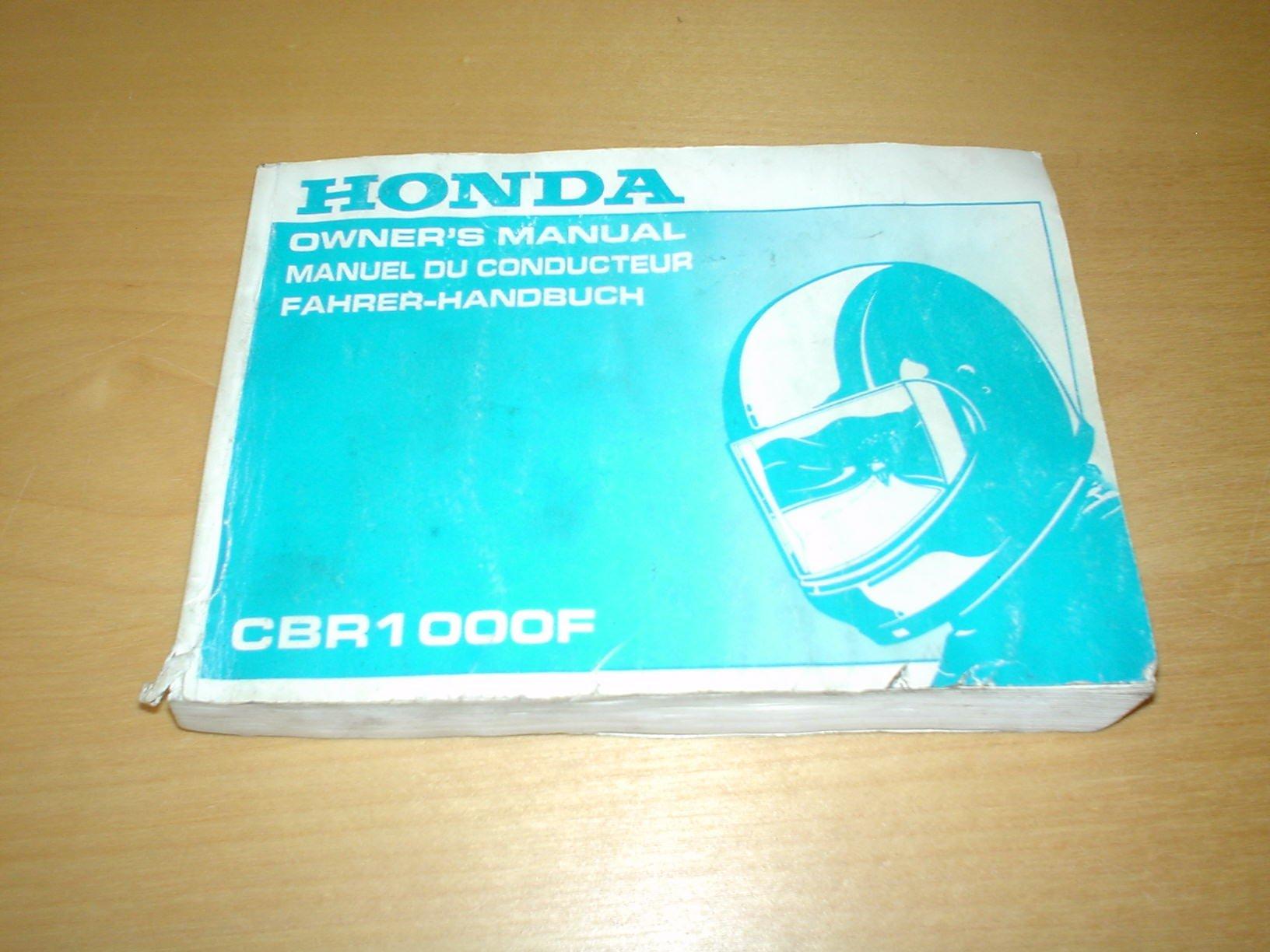 honda motorcycle cbr1000f hurricane cbr1000 f cbr 1000 1000f - owners  handbook manual bike hand book paperback – 1993