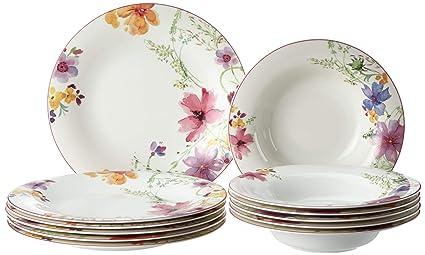 Villeroy E Boch Piatti.Villeroy Boch Mariefleur 10 4100 7609 Basic Dining Set 12 Pieces Premium Porcelain