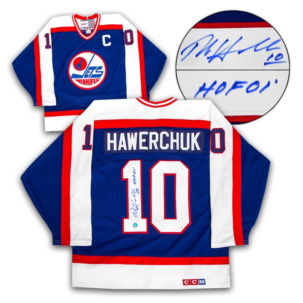 detailed look 801ac 16b8b Dale Hawerchuk Winnipeg Jets Autographed Rookie Retro CCM ...