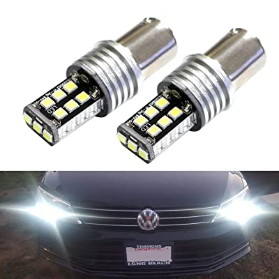 iJDMTOY (2) Xenon White 15-SMD LED Replacement Bulbs Compatible With 2011-2020 Volkswagen MK6 Mk6.5 Jetta As Daytime Running Lights: Automotive