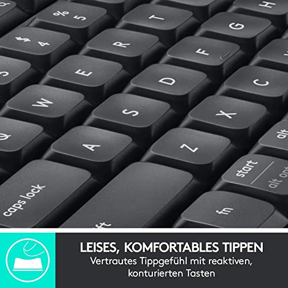 Logitech MK850 Performance Bluetooth QWERTZ Alemán Negro - Teclado (Bluetooth, Universal, QWERTZ, Alemán, Inalámbrico, PC/Server): Logitech: Amazon.es: ...