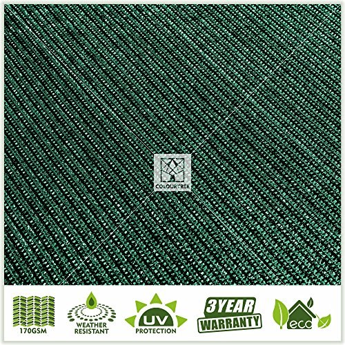 ColourTree 2nd Generation 6' x 50' Green Fence Privacy Screen Windscreen, Commercial Grade 170 GSM Heavy Duty, We Make Custom Size by ColourTree (Image #6)