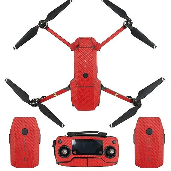7cf337968cf Skin for DJI Mavic Pro Waterproof Carbon Fiber Decorative Sticker Decal Skin  Wrap Cover Kit Drone