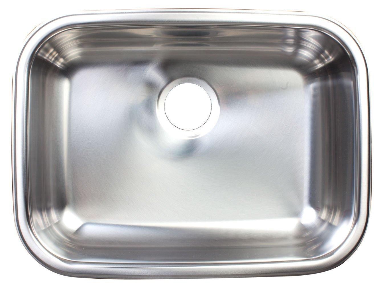 Kindred FSUG800-20BX Single-Bowl Under Mount Kitchen Sink, Stainless Steel