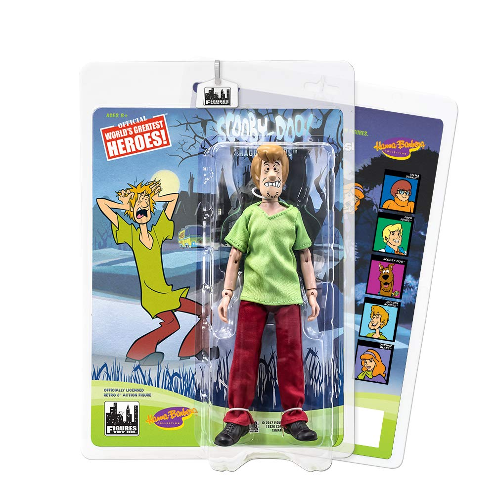 Scared Variant Shaggy Scooby Doo Retro 8 Inch Action Figures Series